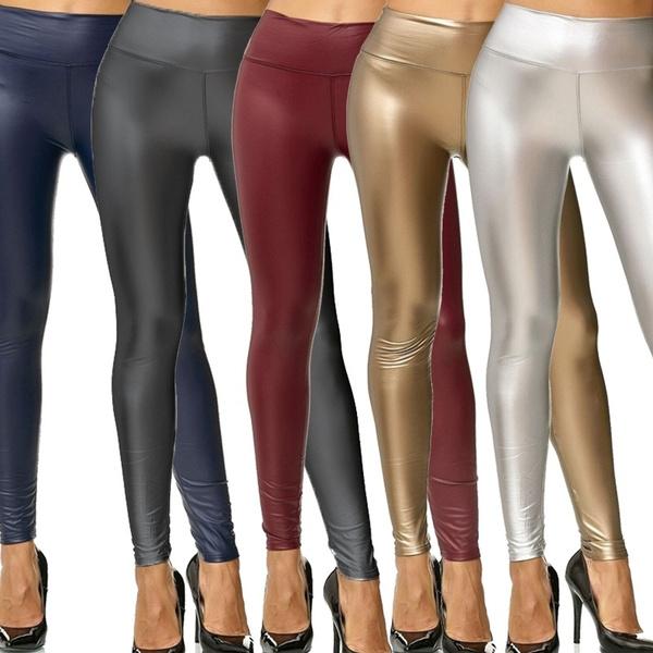 pureleatherpant, womenstrouser, Fashion, high waist