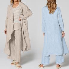 Plus Size, Sleeve, Long Coat, Long Sleeve
