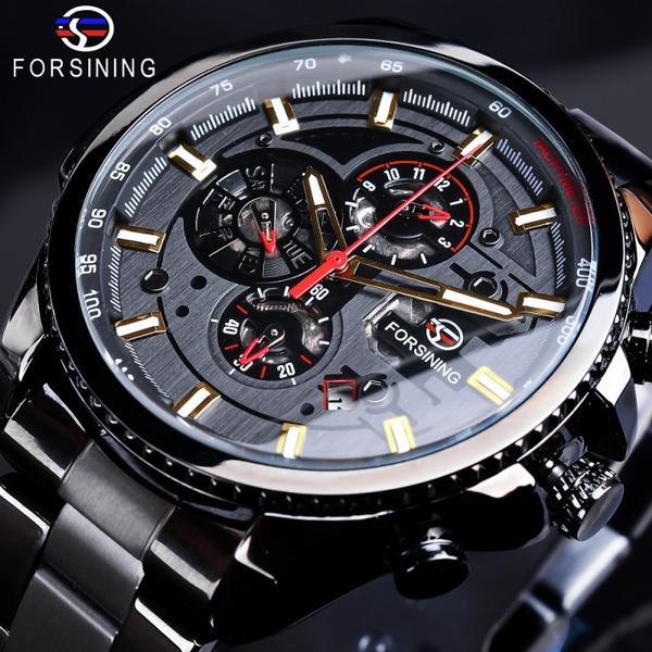 Steel, forsiningautomaticwatch, Fashion, Stainless Steel