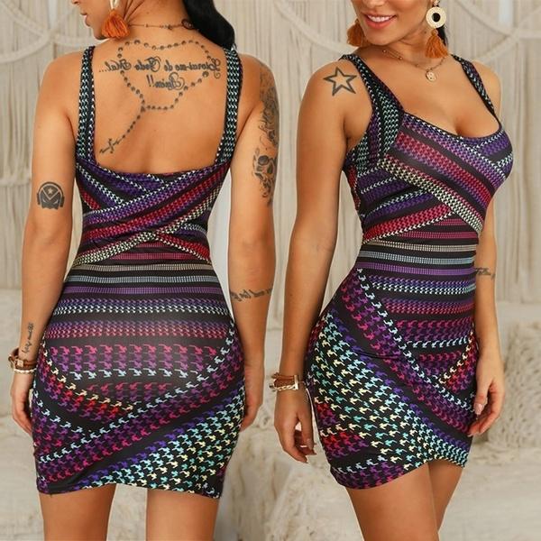Mini, short dress, Sling, sundress