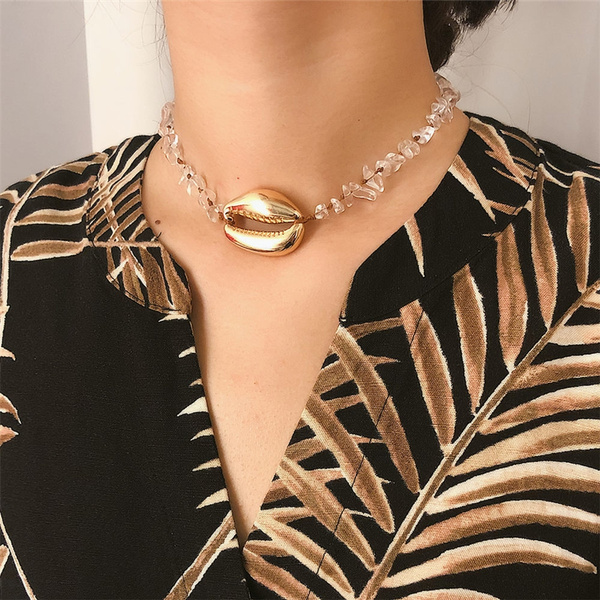 Summer, Exquisite Necklace, Jewelry, cowrieshell