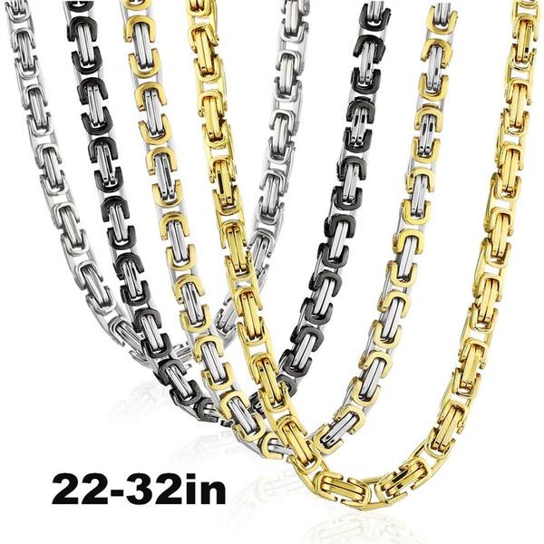 Heavy, byzantinechain, Stainless Steel, Jewelry