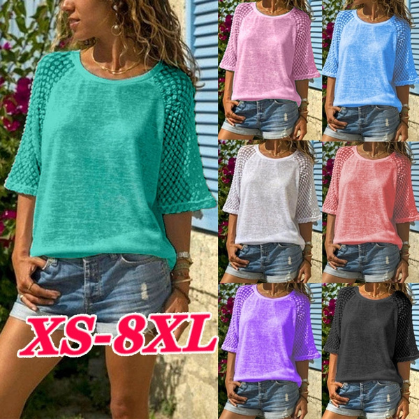 Tops & Tees, summer t-shirts, Lace, Summer