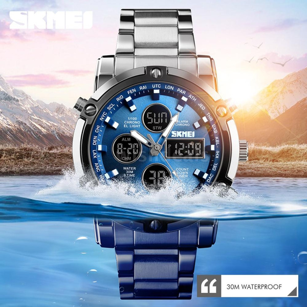 stainlesssteelband, Men Business Watch, Waterproof Watch, Clock