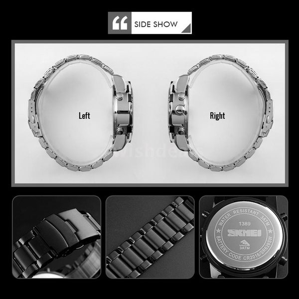 stainlesssteelband, Men Business Watch, Waterproof Watch, Clock