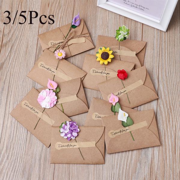 businessgiftenvelope, Flowers, blessingcard, Handmade