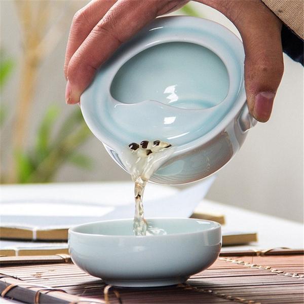 celadon3dcarpkungfuteaset, Tea, teapotkettle, tea cup