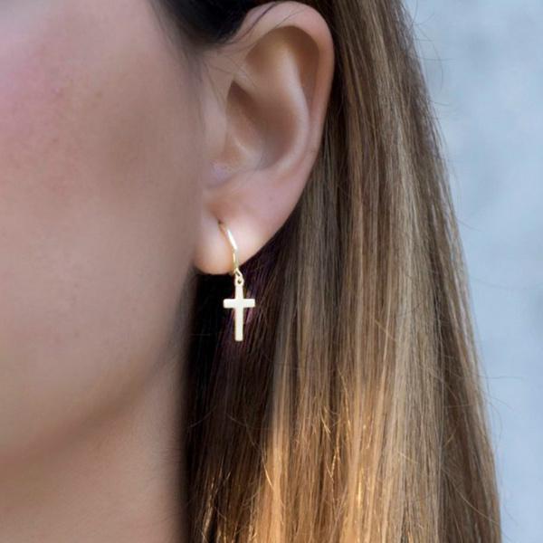 Hoop Earring, Dangle Earring, Jewelry, Cross Pendant