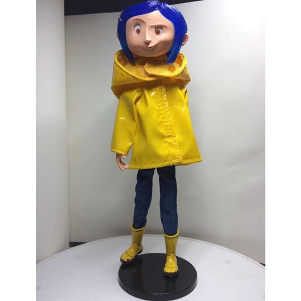 Hot Movie Coraline The Secret Door Neca Raincoat Pvc Action Figures Toys Dolls Wish