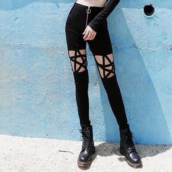 Pentagram Black Leggings