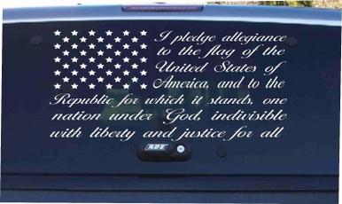 American, pledge, Cars, Stickers