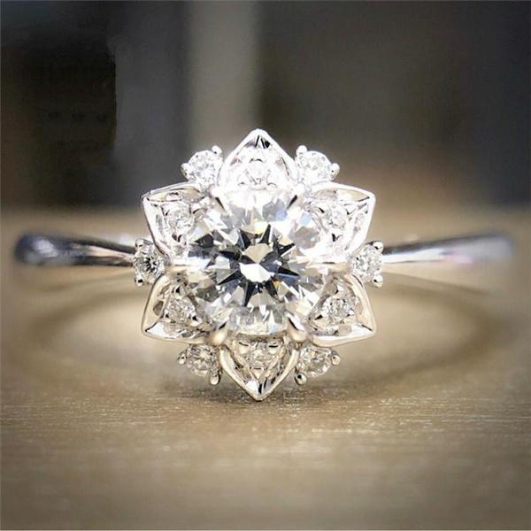 Sterling, wedding ring, 925 silver rings, Romantic