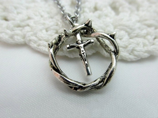monogram, Christian, charmpendantnecklace, Women jewelry