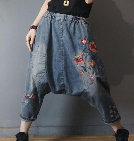 harem, Plus Size, pants, Denim