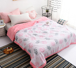 summerquilt, bedclothe, orangequilt, Summer