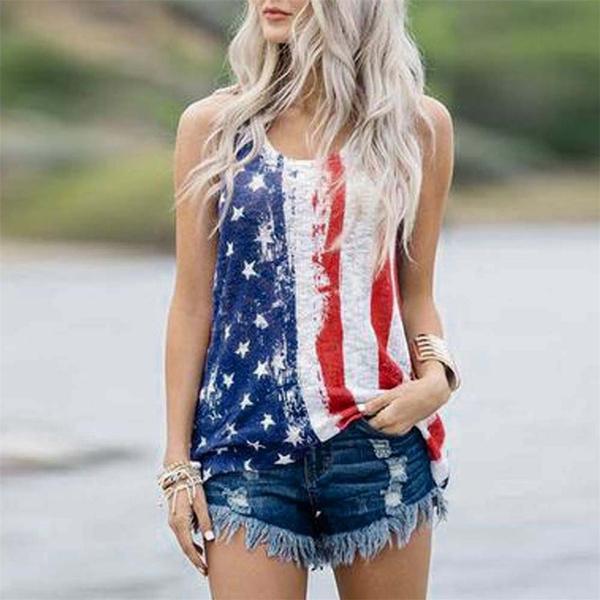 sleeveless, Vest, Plus Size, Cotton Shirt