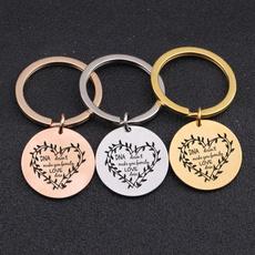 Steel, Family, Key Chain, Jewelry