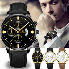 menclock, Men Business Watch, watches for men, leather strap