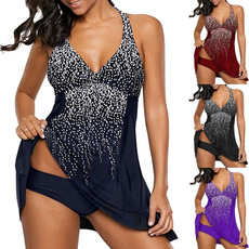 Summer, Plus Size, bikini set, swim dress