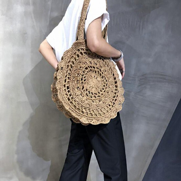 Shoulder Bags, strawbag, Summer, womentote
