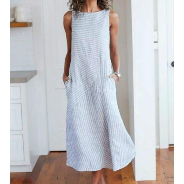 Summer, Lines, Plus Size, long dress