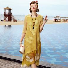 Summer, silk dress, Dress, summer dress