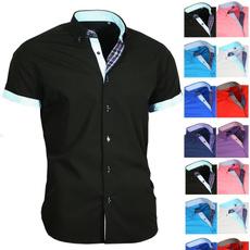 Summer, camisasocialmasculina, Dress Shirt, Sleeve