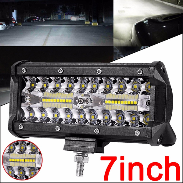 7BDC Super Bright 12W Off-Road Lights Forklift Trucks Car Work Light 8LED ATV