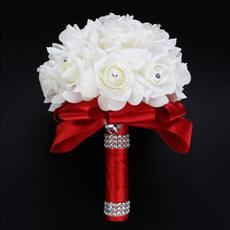 foamflower, Flowers, Bouquet, Rosa