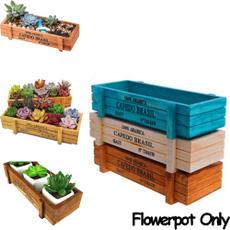 flowerpotsplanter, rectanglewoodvase, Gardening, Home Decor