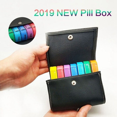 case, rainbow, pillbox, medicineholdercase
