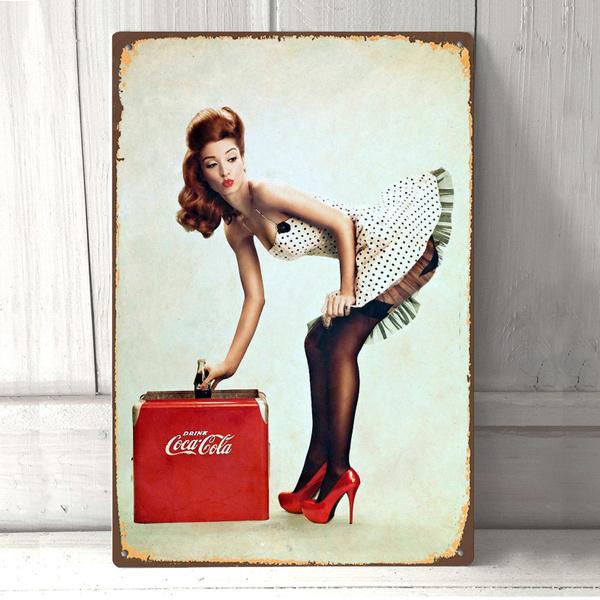 226964 Vintage Coke Pin Up Girl GLOSSY POSTER  FR