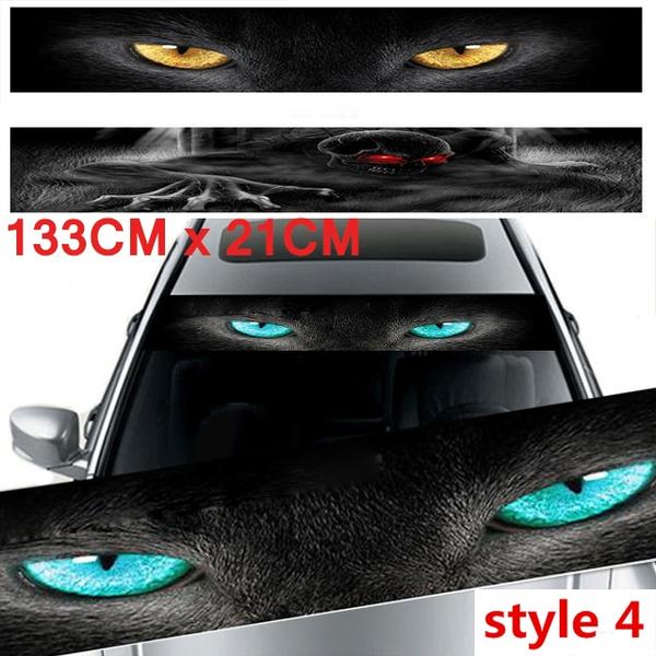 SZBYKJ 3D Transparent Car Front Windscreen Windshield Window Decal Vinyl Sticker Style 1