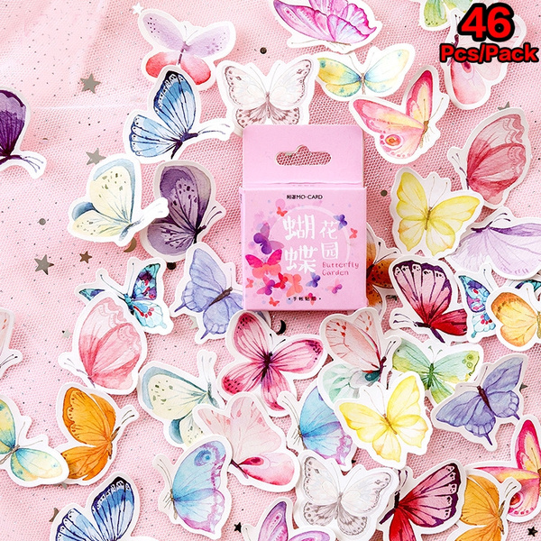 butterfly, Decorative, Colorful, labelsticker