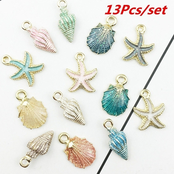 Charm Bracelet, shells, Jewelry, starfish