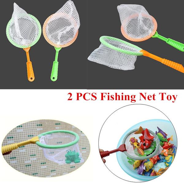 22cm Plastic Fishing Net Toys Handle Mini Butterfly Mesh Nets Kids Outdoor To SE