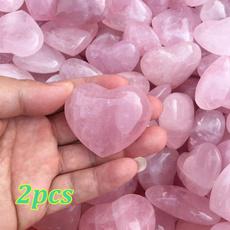 pink, Heart, quartz, quartzcrystal