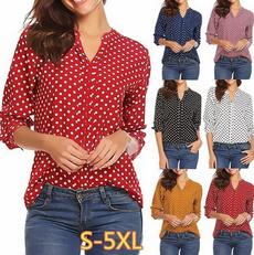 Plus Size, Women Blouse, Long Sleeve, V-neck Cardigan
