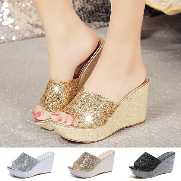 wedge, Flip Flops, Bling, shoes for womens