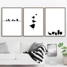 blackwhitecanvaspainting, Home Decor, largecanvaspainting, Posters