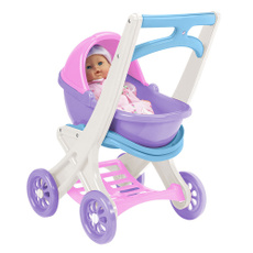 Toy, kidchildpinknewbornbabydollcarrierpramset, bluedollstroller, doll