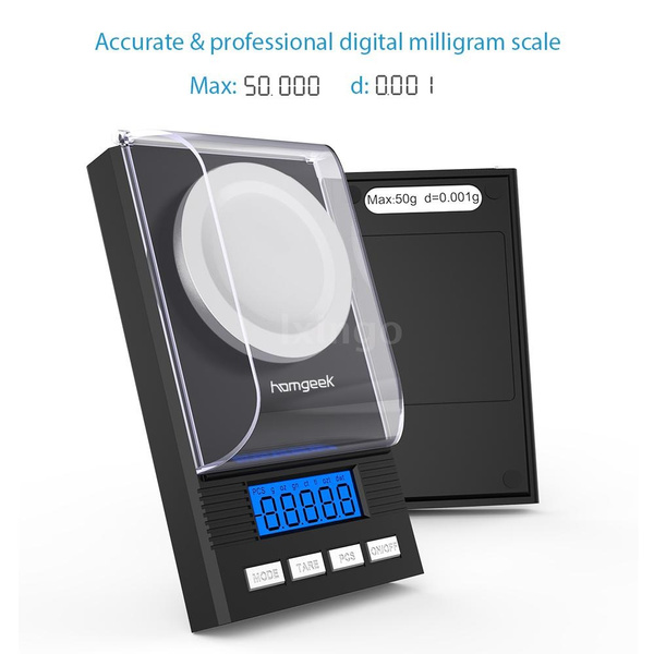 Homgeek 50g//0.001g Mini Electronic Balance Powder Scale Jewelry N7G7