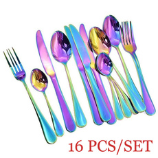 Forks, rainbow, Romantic, Colorful
