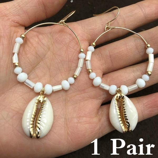 largehoopearring, naturalshellearring, Jewelry, gold