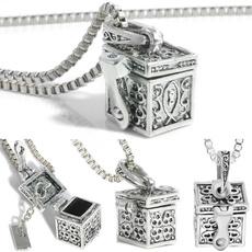 Box, case, titanium steel, keepsakenecklace