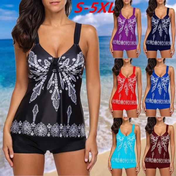 Summer, Plus Size, Floral print, two piece bathing suit