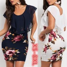 Summer, Floral print, Vestidos, Evening Dress