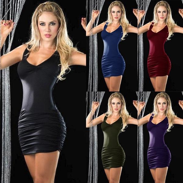 Mini, Sleeveless dress, Slim Fit, women dresses