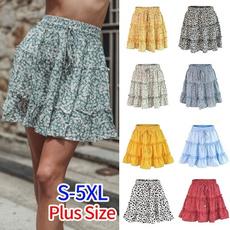 Skirts, Mini, summer skirt, ruffled