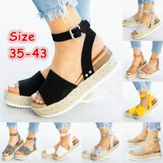 casual shoes, Summer, Sandalias, Platform Shoes